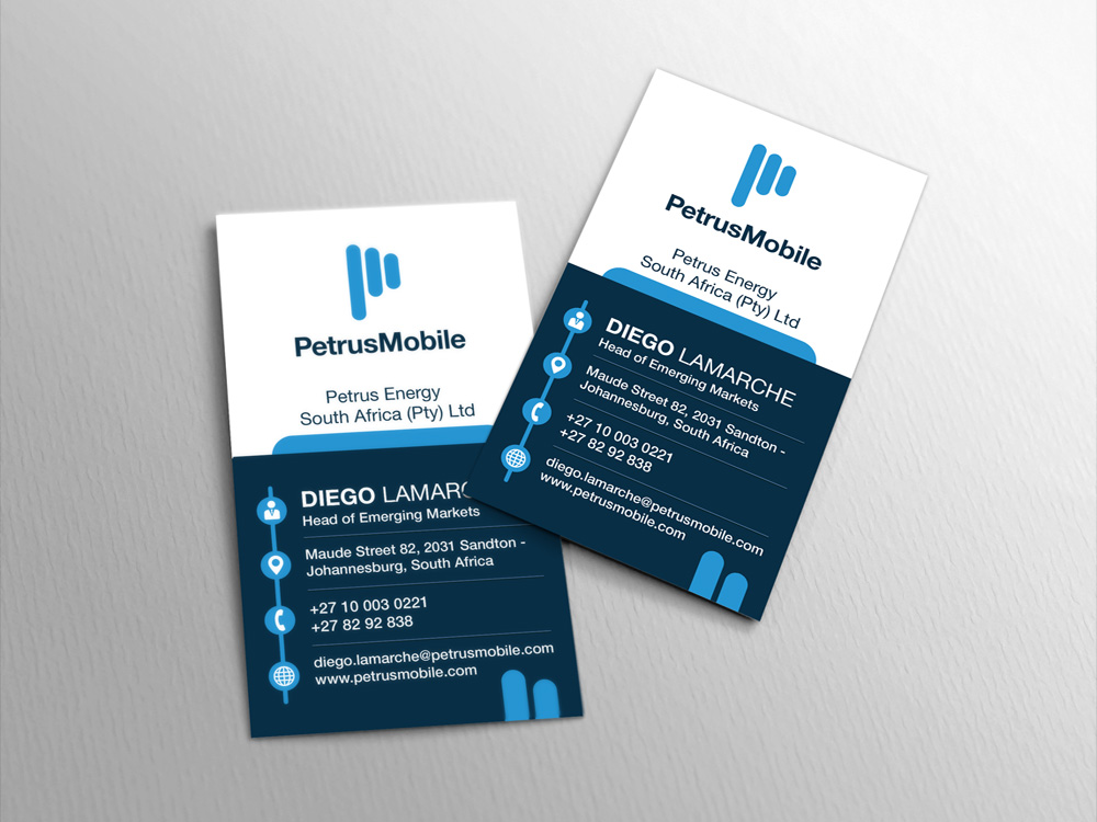 Elegant serious wireless communication business card design for business card design by garrey for petrus sa design 16291557 colourmoves