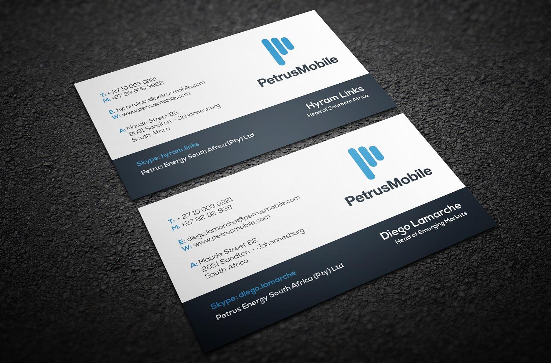 Elegant serious wireless communication business card design for business card design by thelogohouse for petrus sa design 16289530 colourmoves