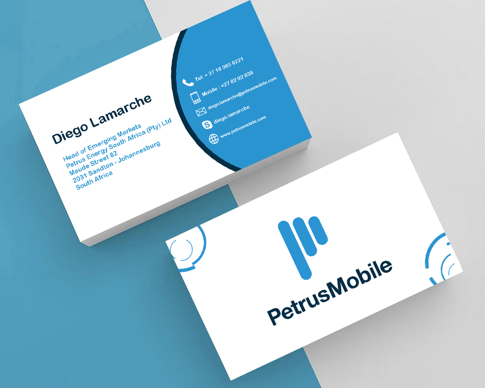 Elegant Serious Wireless Communication Business Card Design For