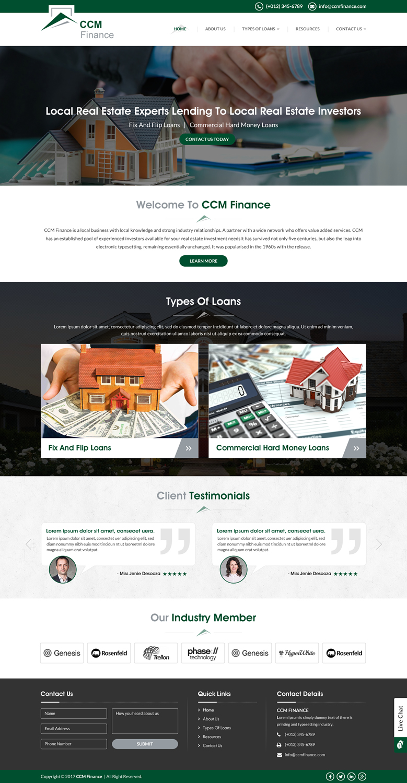 Masculine bold finance web design for carpathian capital for Masculine web design