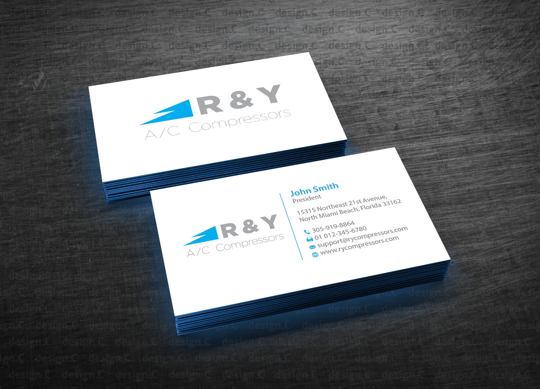 259 professional business card designs automotive business card business card design by designc for r y ac compressors design colourmoves