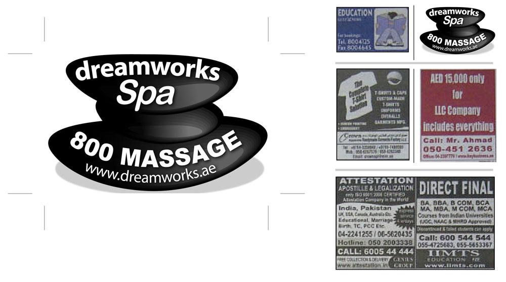 Bold Modern Massage Newspaper Ad Design For Bali Spa By Imad