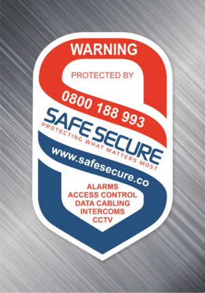 Design our security warning sticker to deter thefts and promote our business