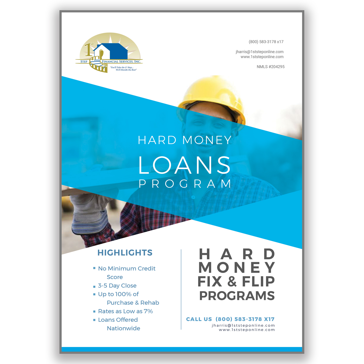 elegant playful loan flyer design for a company by dana noja