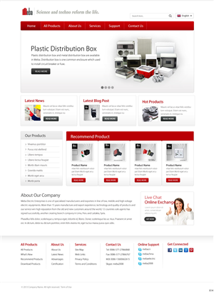 Wordpress Design by pb - international electric export business, needs h...