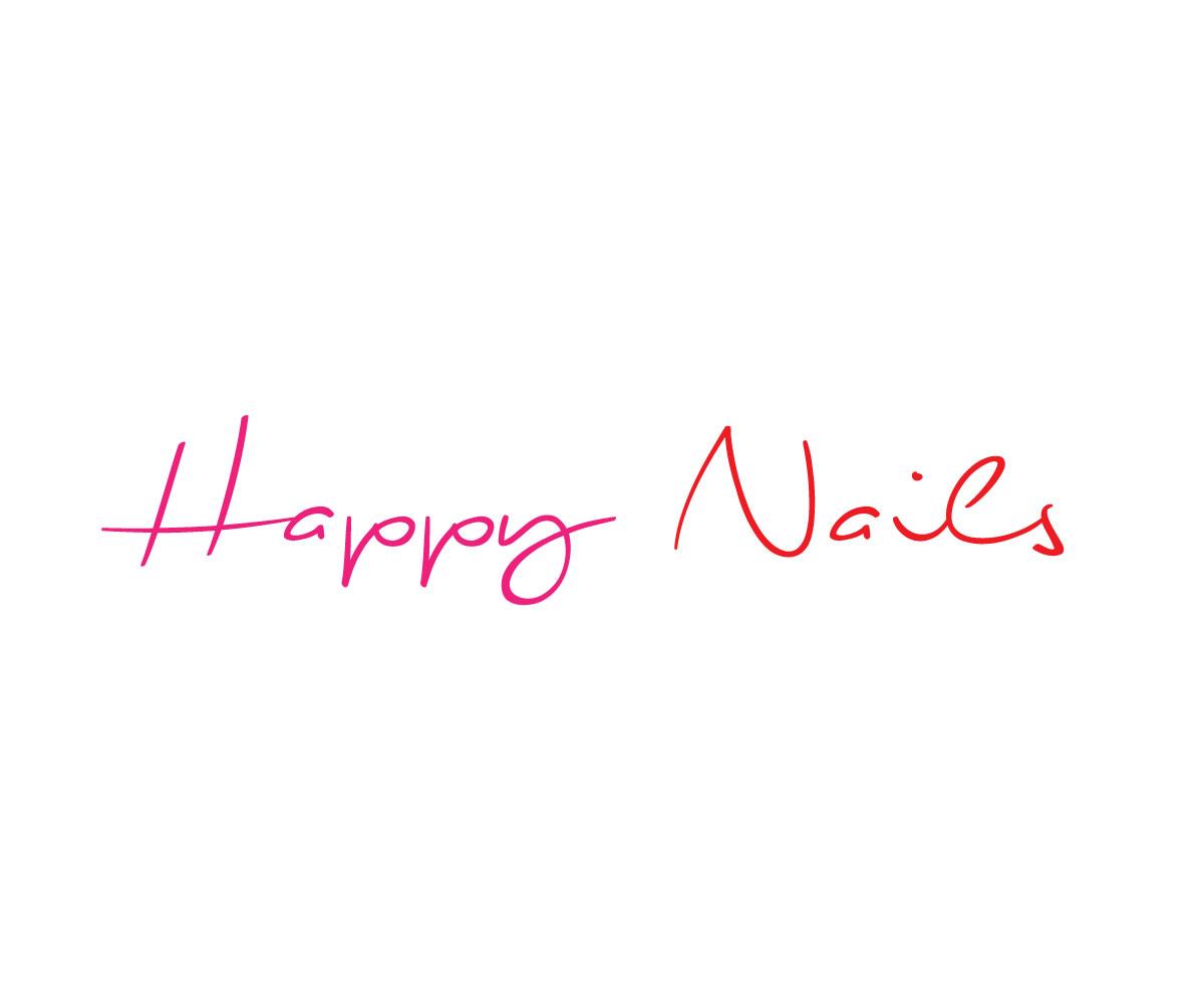 Feminine Playful Salon Logo Design For Happy Nails By Creative