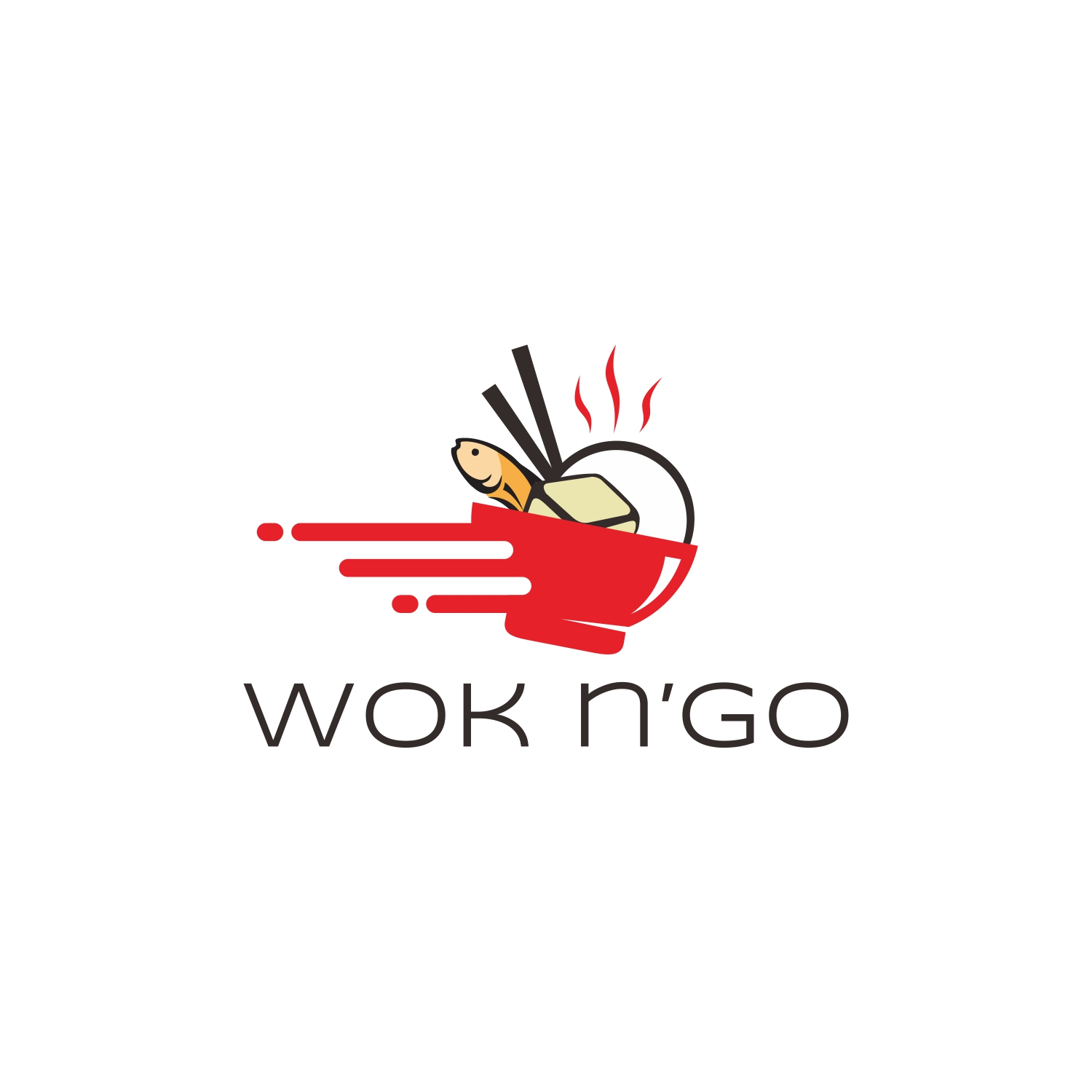 Modern Playful Fast Food Restaurant Logo Design For Wok N Go By Six Eleven Design Design 16433412
