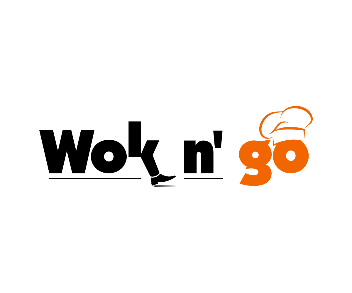 Modern Playful Fast Food Restaurant Logo Design For Wok N Go By Dreamzinside Design 16406228