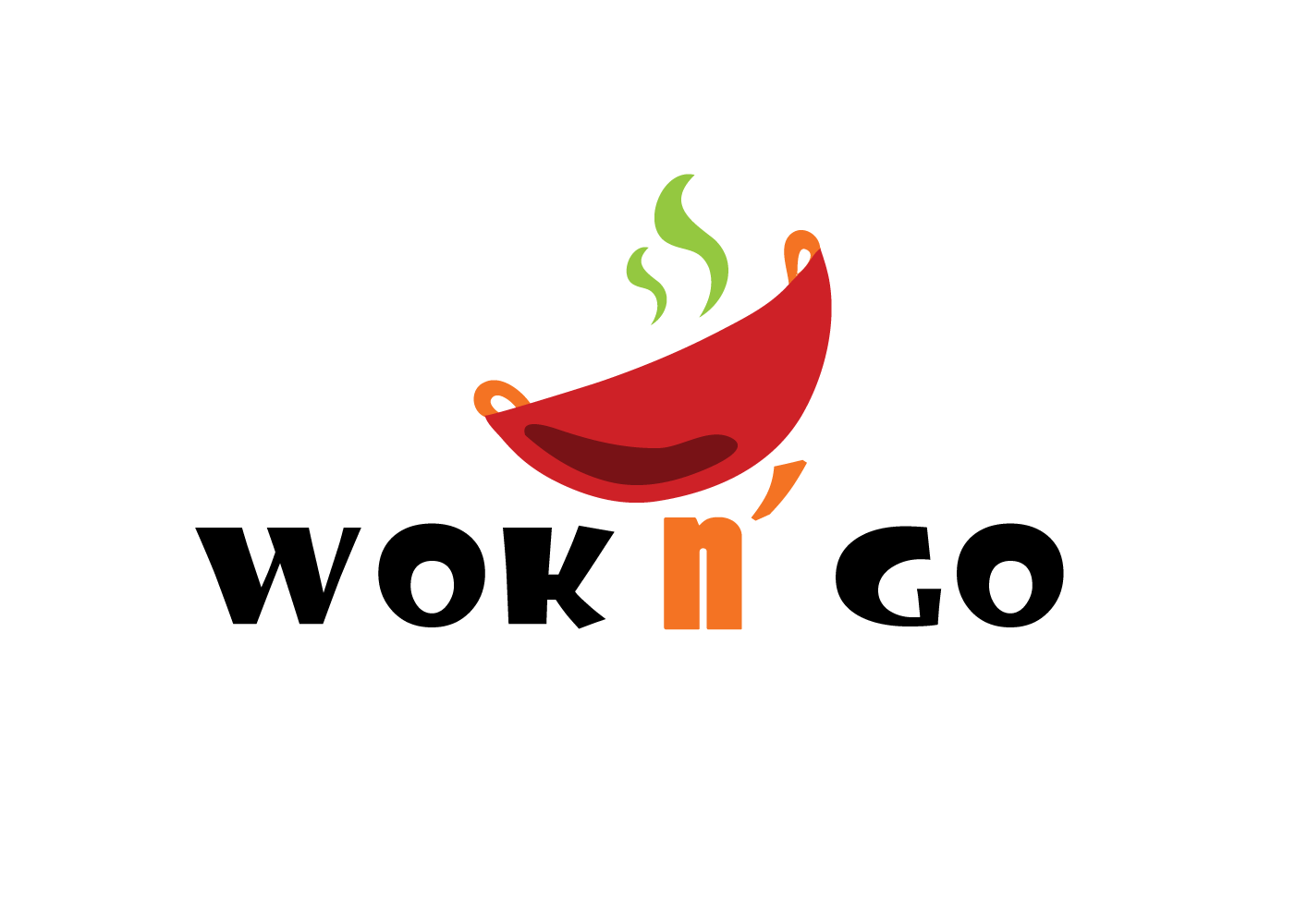 Modern Playful Fast Food Restaurant Logo Design For Wok N Go By Jen Jenjen7 Design 16460877