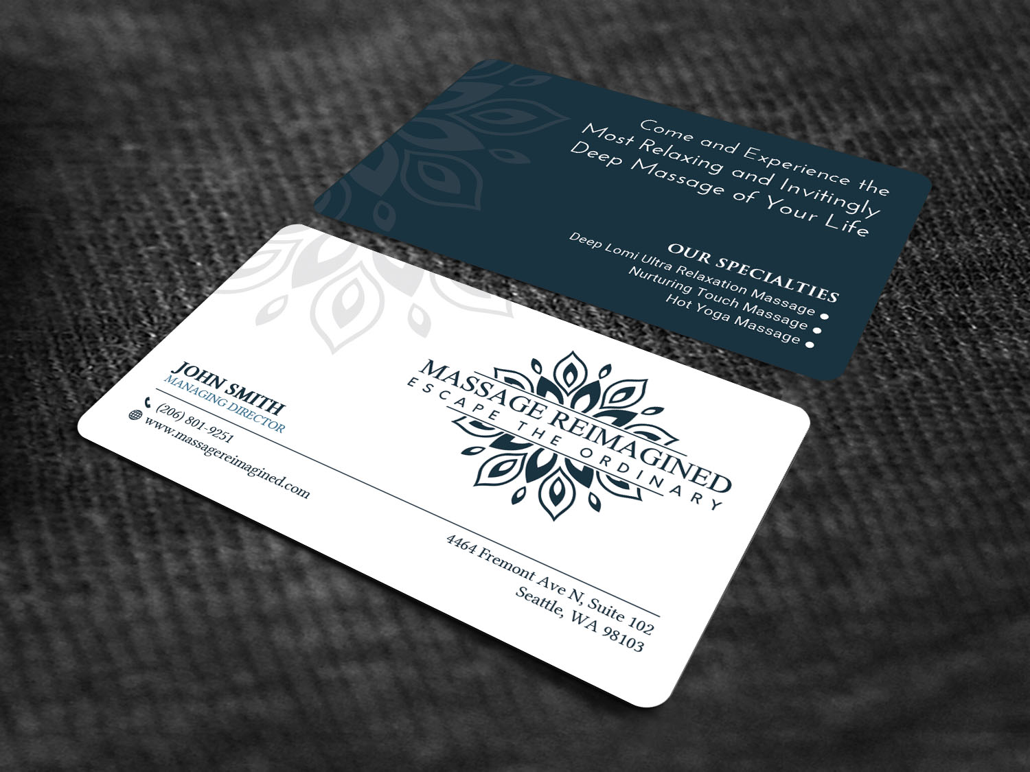 Elegant playful massage business card design for a company by business card design by sandaruwan for this project design 16319912 colourmoves