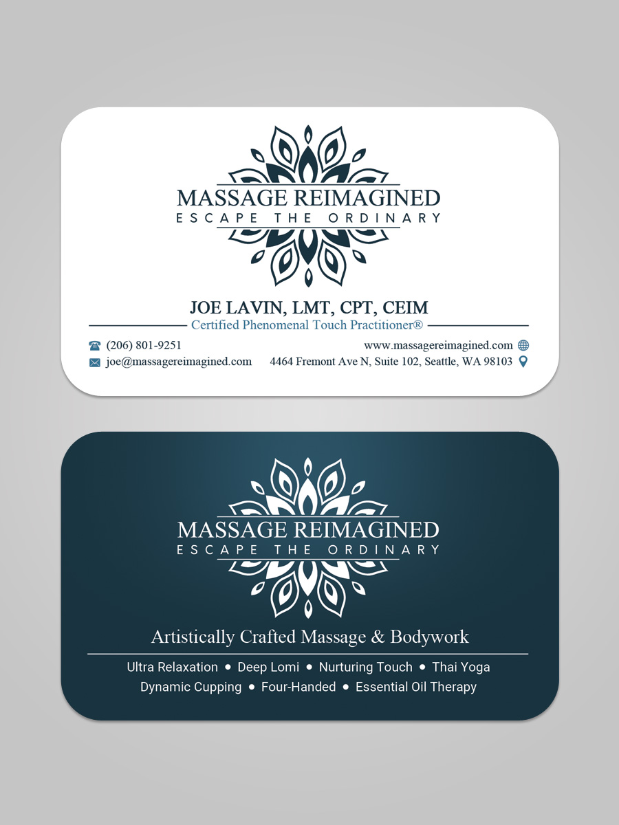 Elegant playful massage business card design for a company by business card design by sandaruwan for this project design 16476533 colourmoves