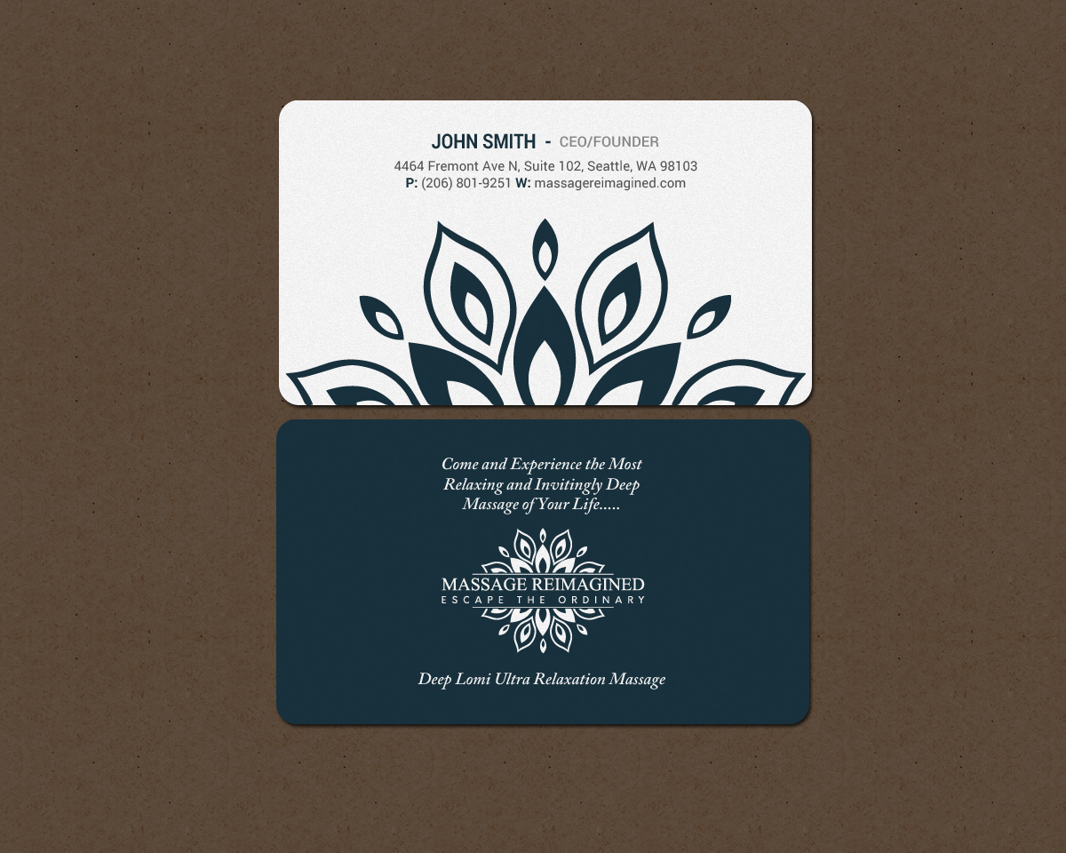 Elegant playful massage business card design for a company by business card design by chandrayaaneative for this project design 16318836 colourmoves