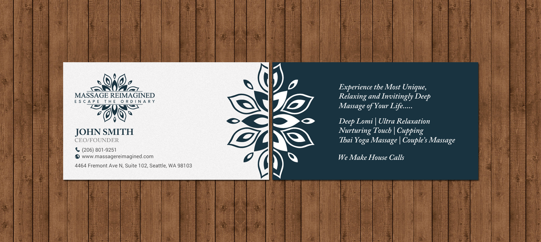 carte de visite massage Elegant, Playful, Massage Business Card Design for a Company by