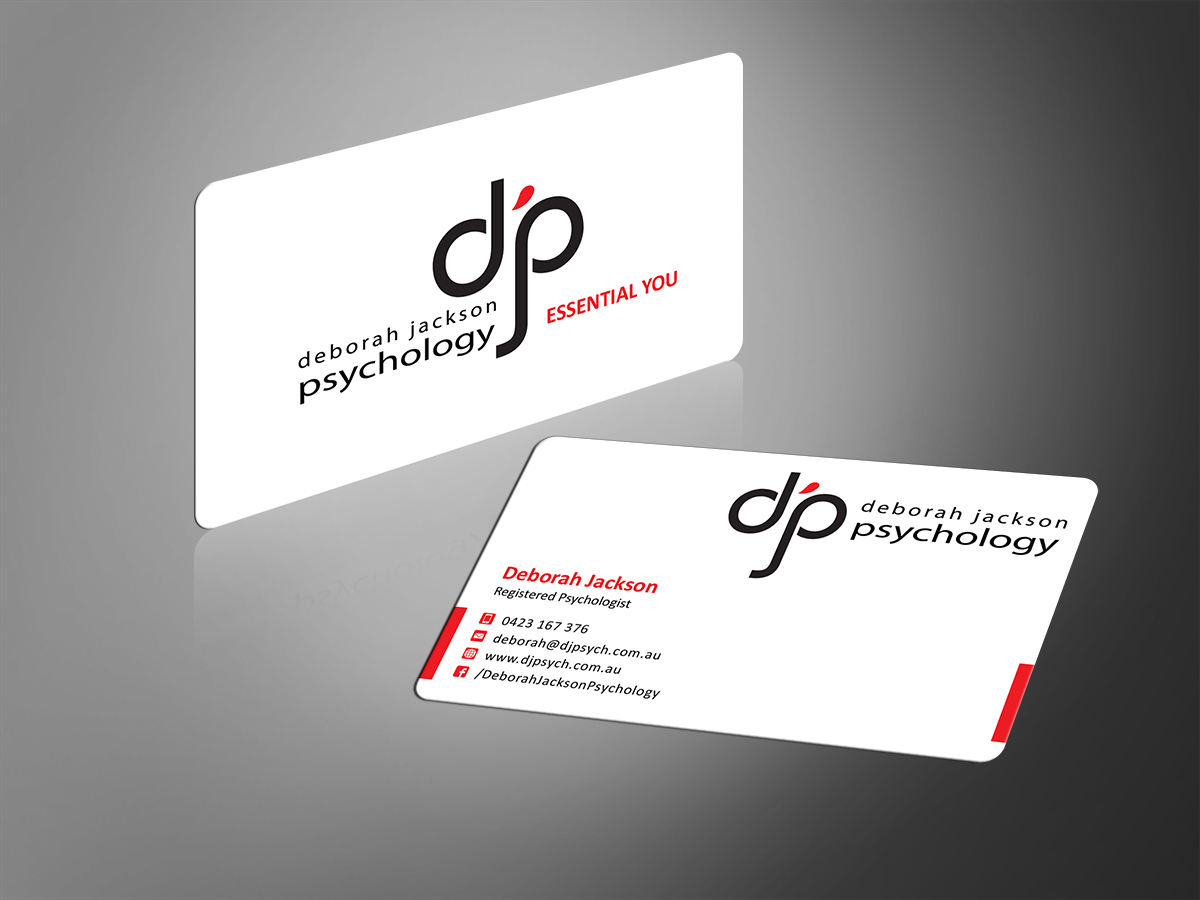 Modern upmarket business card design for deborah jackson by mt business card design by mt for holistic psychologist needs contemporary business card design 2649062 magicingreecefo Choice Image
