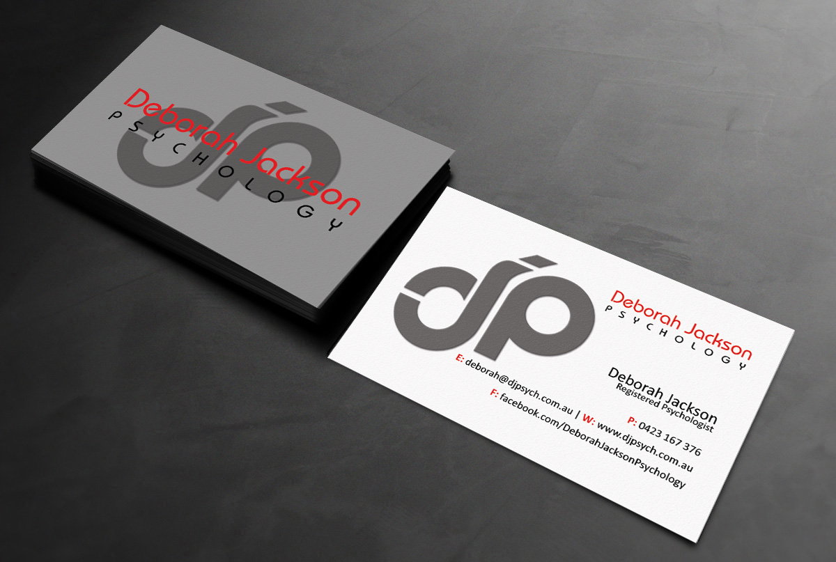 Modern, Upmarket Business Card Design for Deborah Jackson by GTools ...