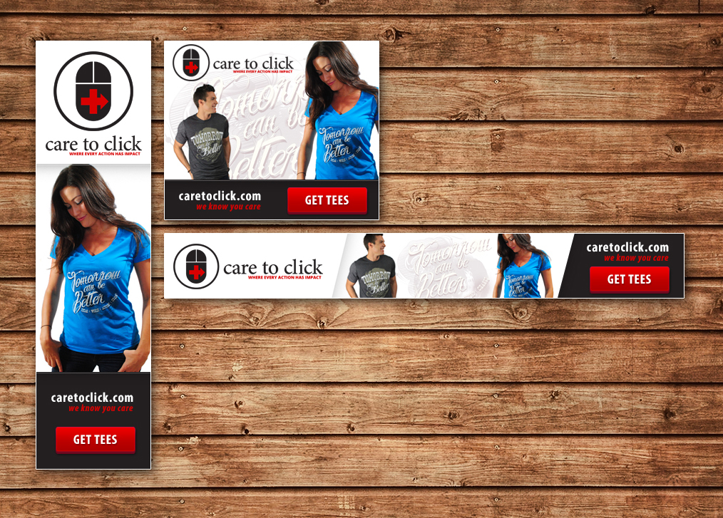 bold modern banner ad design for care to click llc by azakdesigns design 2668682