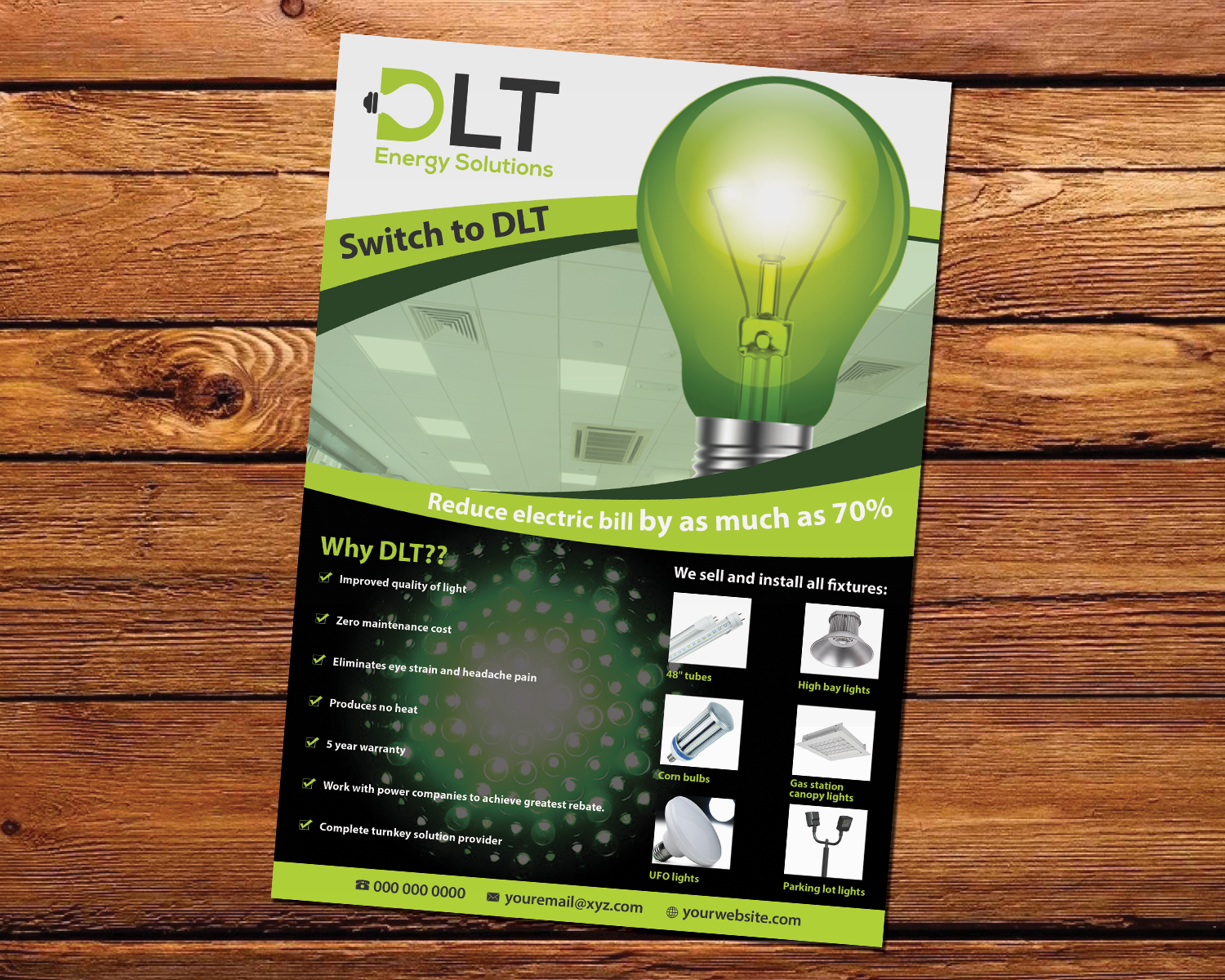 Flyer Design By Rizu0027 For DTL Energy Solutions Inc. | Design #16371349