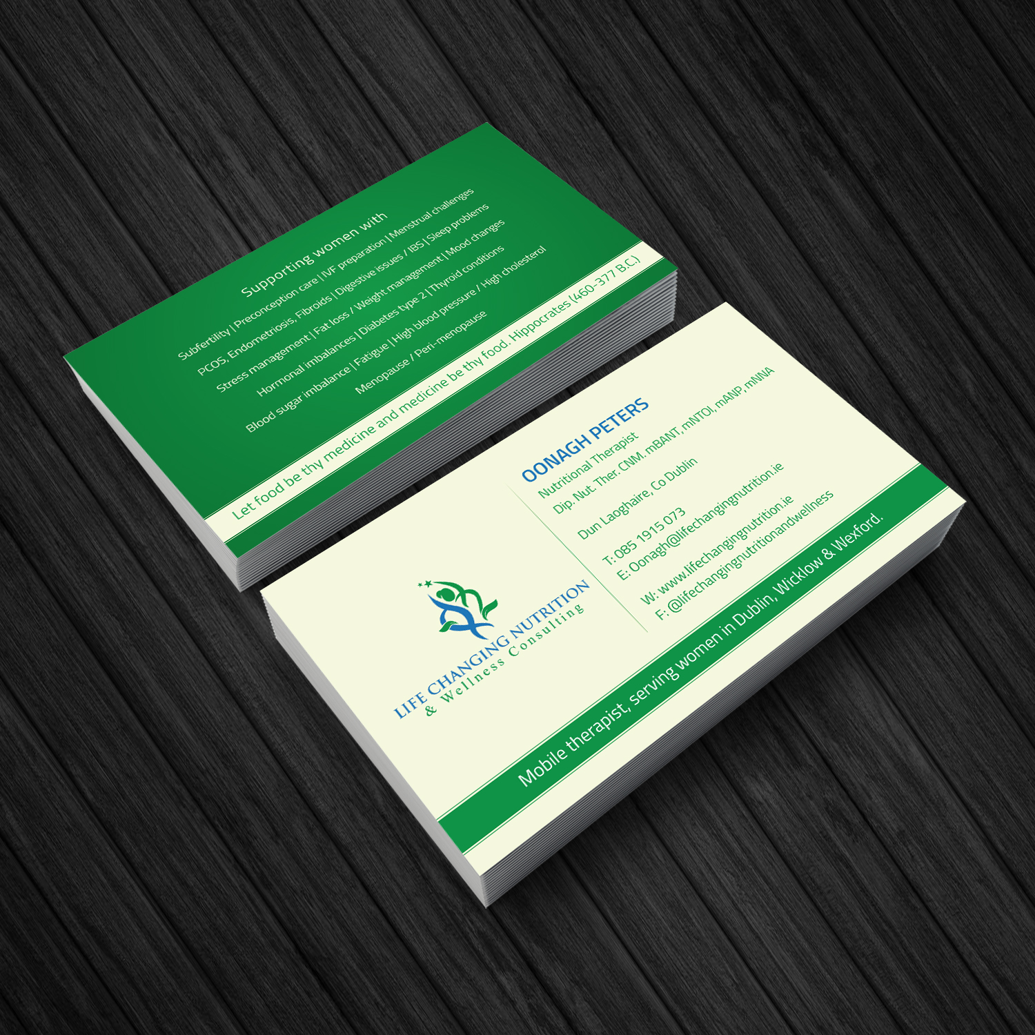 Elegant playful nutrition business card design for a company by business card design by creative jiniya for this project design 16340579 reheart Gallery