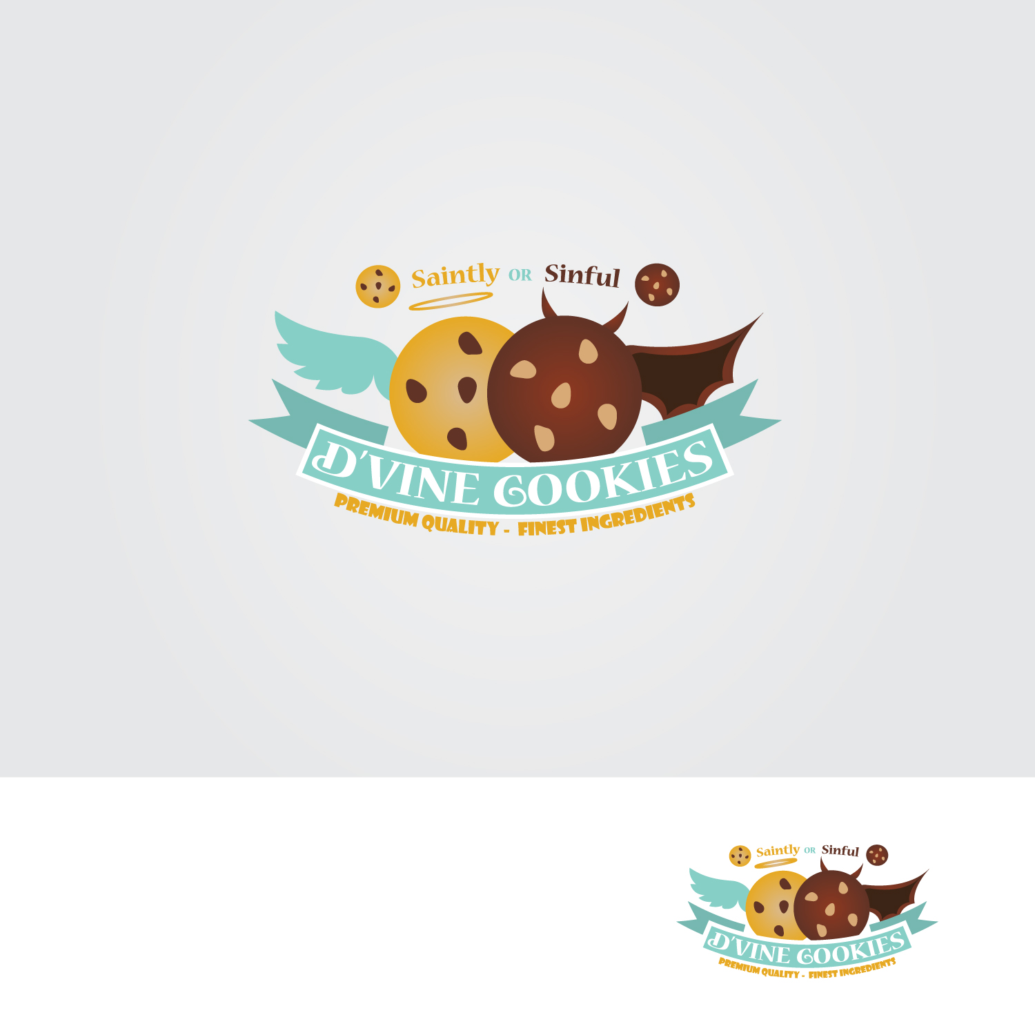 Logo design by solar designs for dvine cookies design 16351372