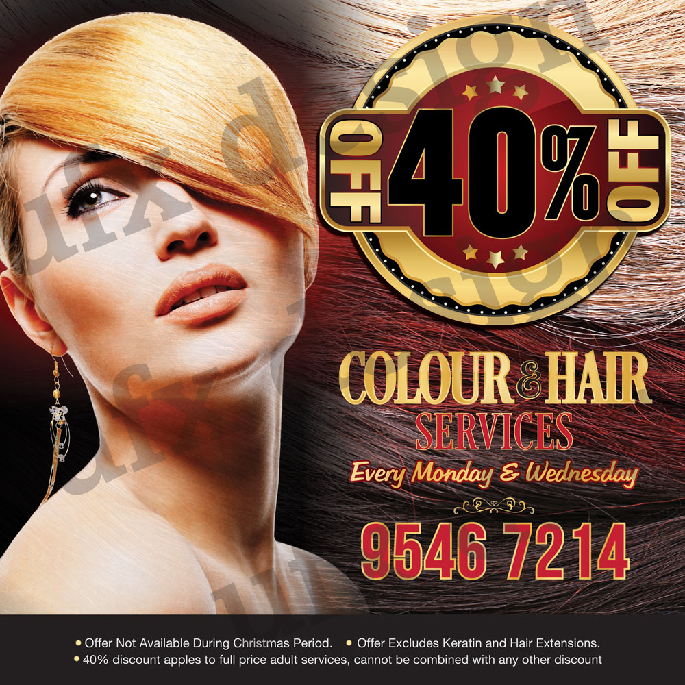 Serious Modern Hair And Beauty Poster Design For Aesthetics Salon