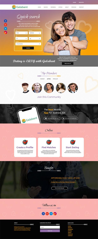 Dating website designer