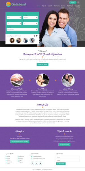Web design dating website