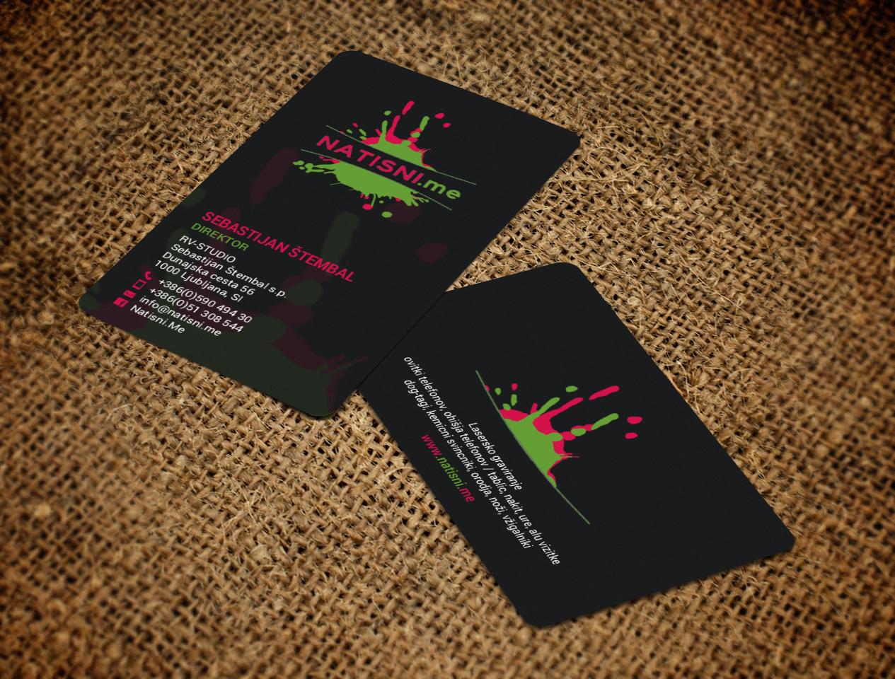 Modern professional business business card design for rv studio business card design by chandrayaaneative for rv studio sebastijan tembal colourmoves