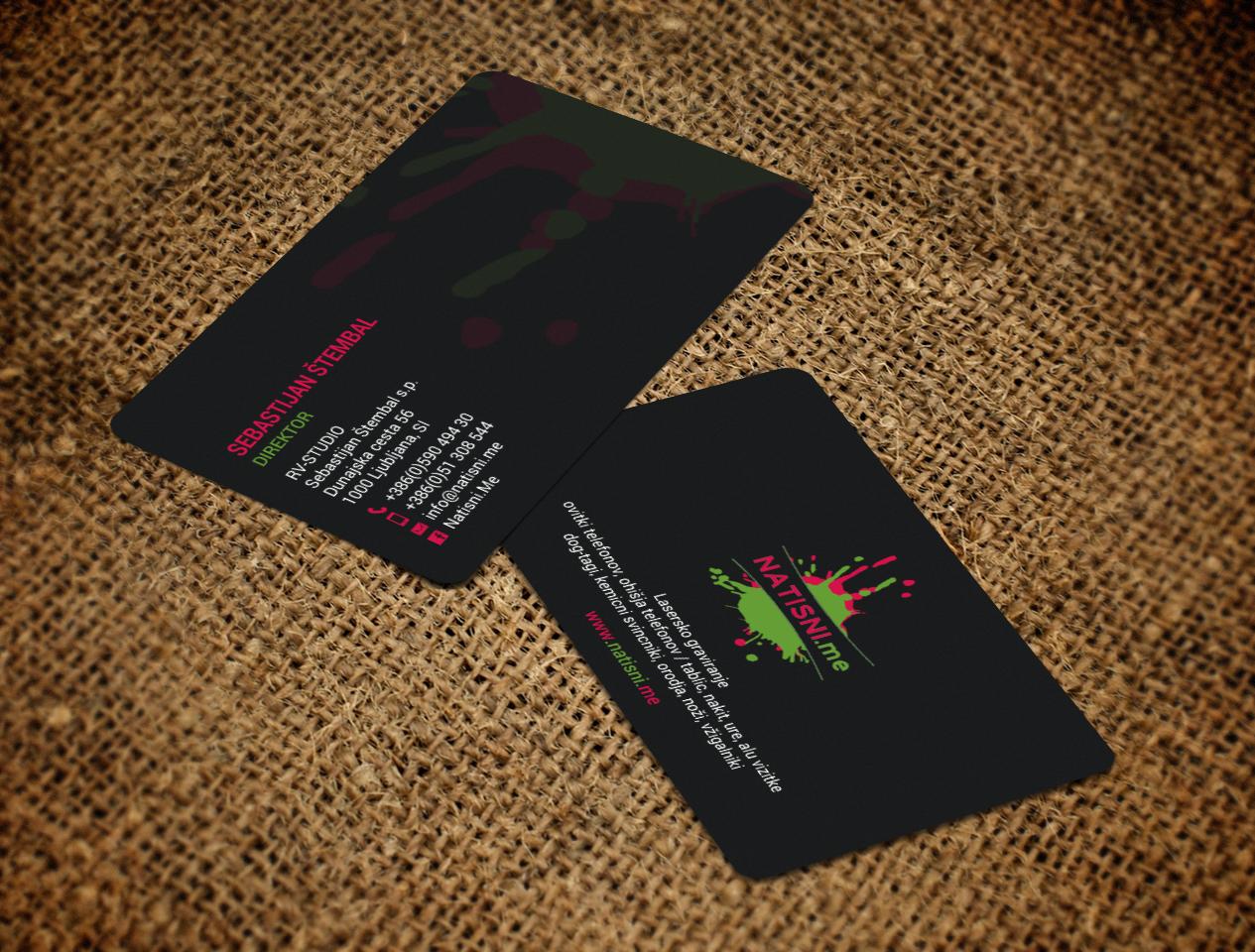Modern, Professional, Business Business Card Design for RV-STUDIO ...