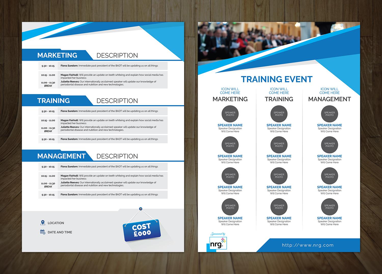 modern professional marketing flyer design for cathy macaione