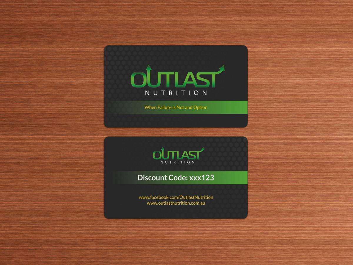 Design De Carte Visite Haut Gamme Audacieux Business Pour Outlast Nutrition En Aux Australia