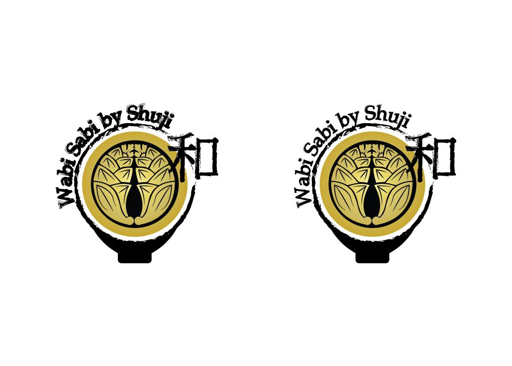 Serious Traditional Japanese Restaurant Logo Design For Wabi Sabi