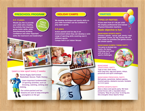 Flyer Design by rkailas - Sporty Little Munchkins - Developing kids passi...