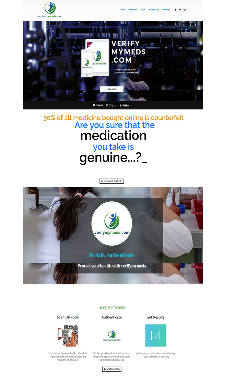 Modern, Professional Web Design for verifymymeds by madD | Design ...
