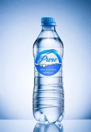 Mineral Drinking Water Label Design By Edge