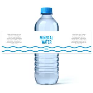 mineral drinking water label design label design by titan designer