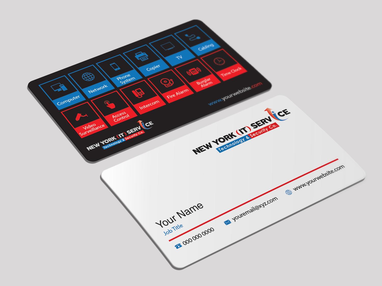 Modern, Elegant, Information Technology Business Card Design for New ...