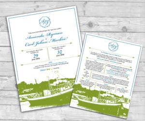 Elegant Modern Wedding Invitation Design By AdriQ