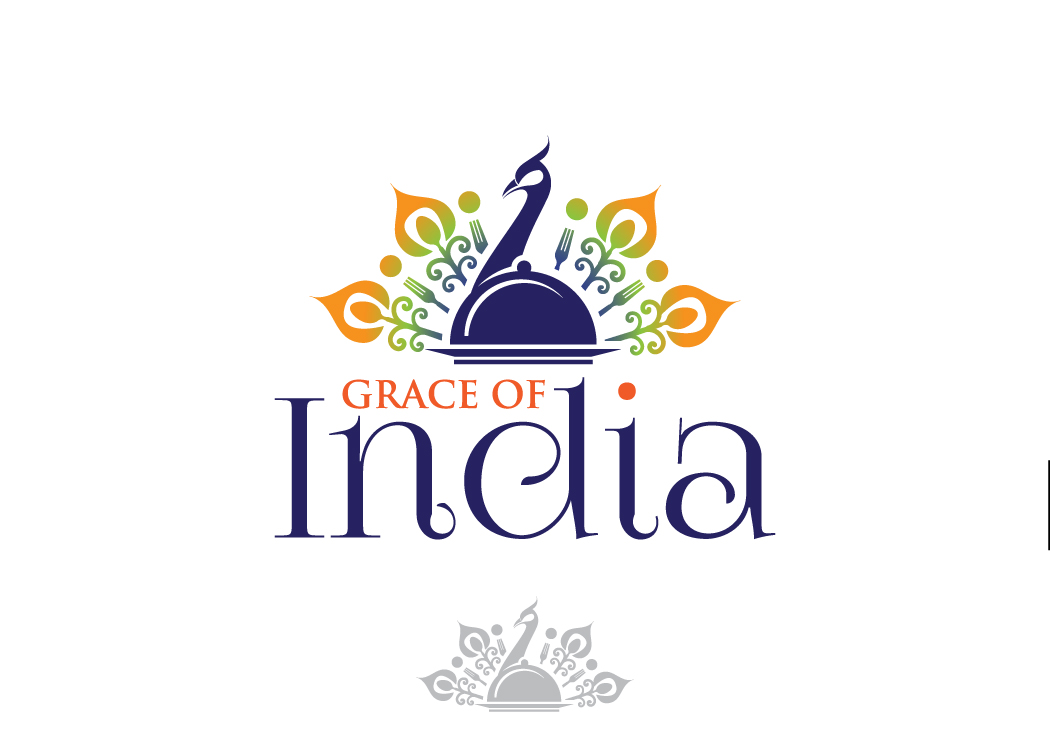 Elegant Professional Indian Restaurant Logo Design For Grace Of India By Creative Bugs Design 16414110