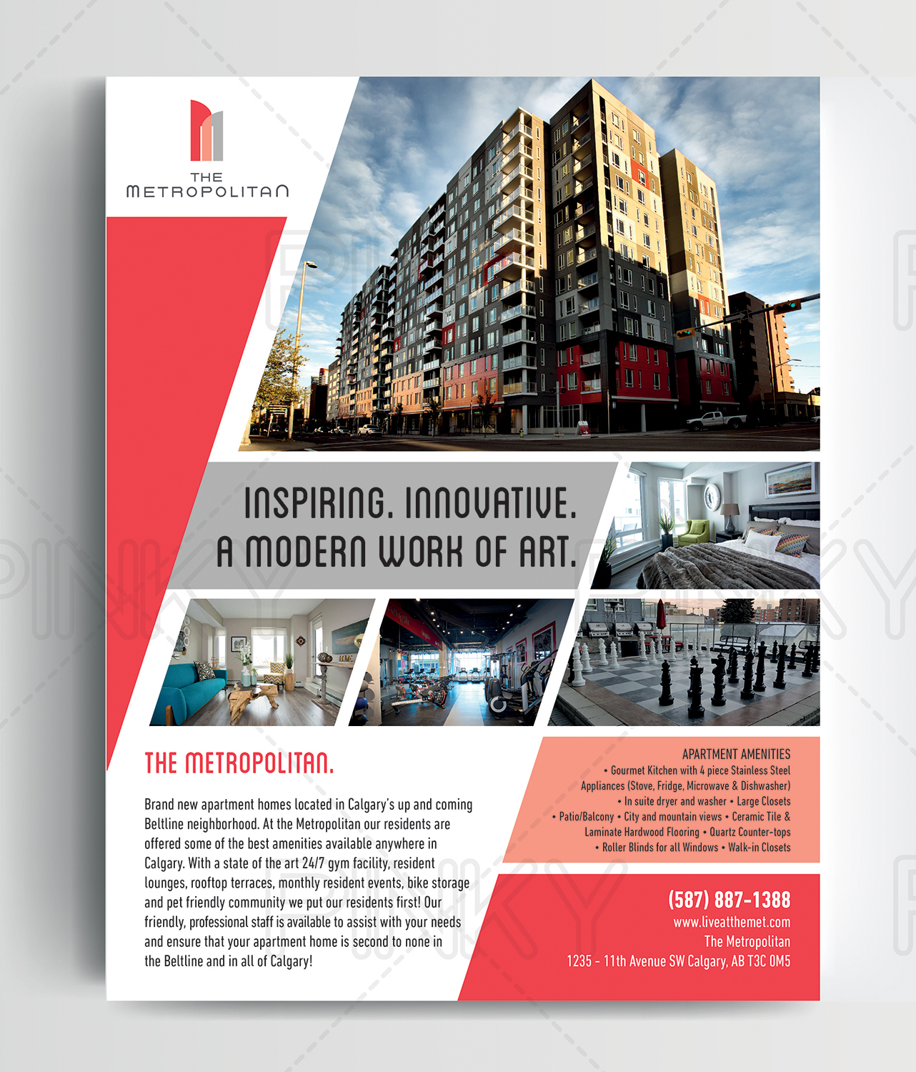 Bold, Modern, Real Estate Magazine Design For A Company By