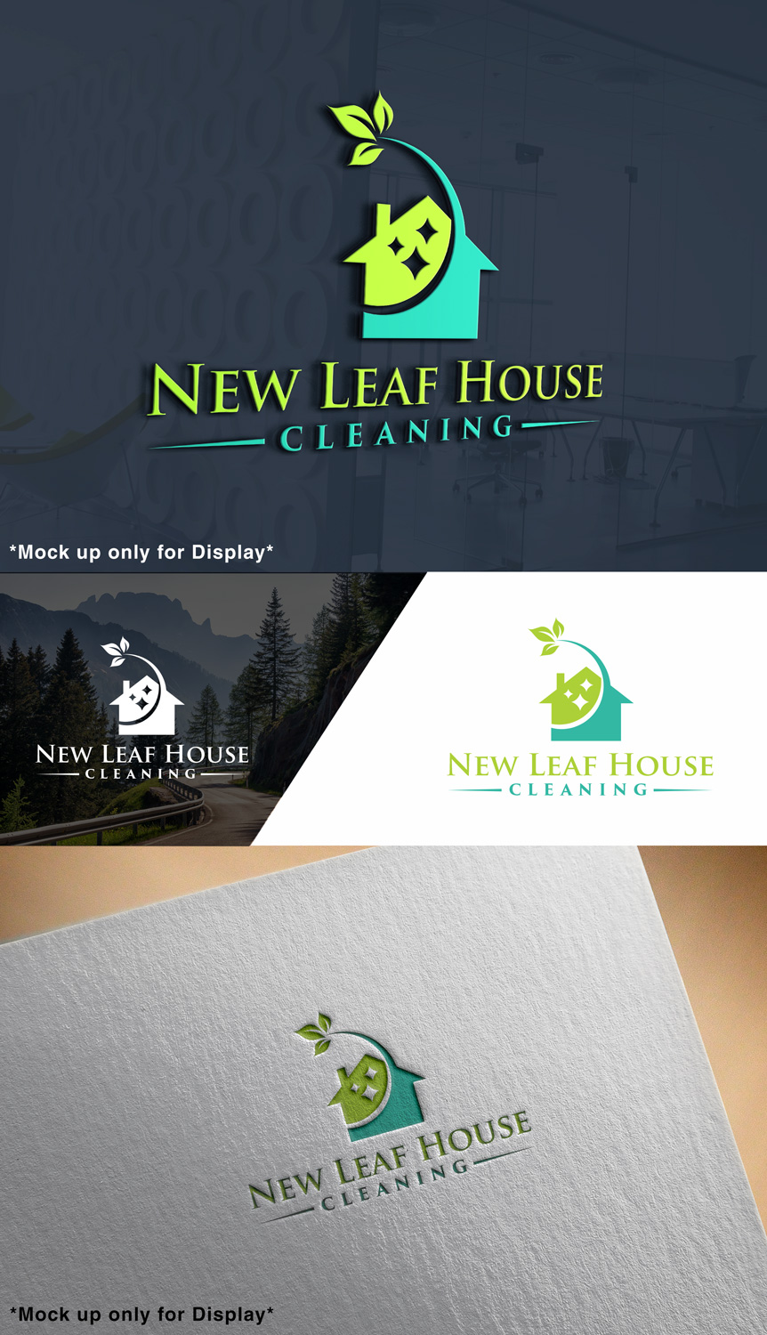 Elegant, Modern, Business Logo Design for New Leaf House Cleaning by on new yellow house, new earth house, haiku house, new stone house, new tobacco house, oasis house, new fire house, new blue house, new purple house, college house, new lake house, new tree house, nova house, amazon house, new black house, taylor house, new dog house, crown house, new psycho house, new cube house,