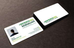 Elegant professional business card design job business card brief business card design job speedgo computing business card with new logo design for hpc software reheart Choice Image