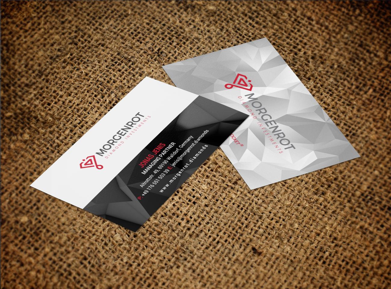 Elegant, Serious Business Card Design for MORGENROT Diamond ...