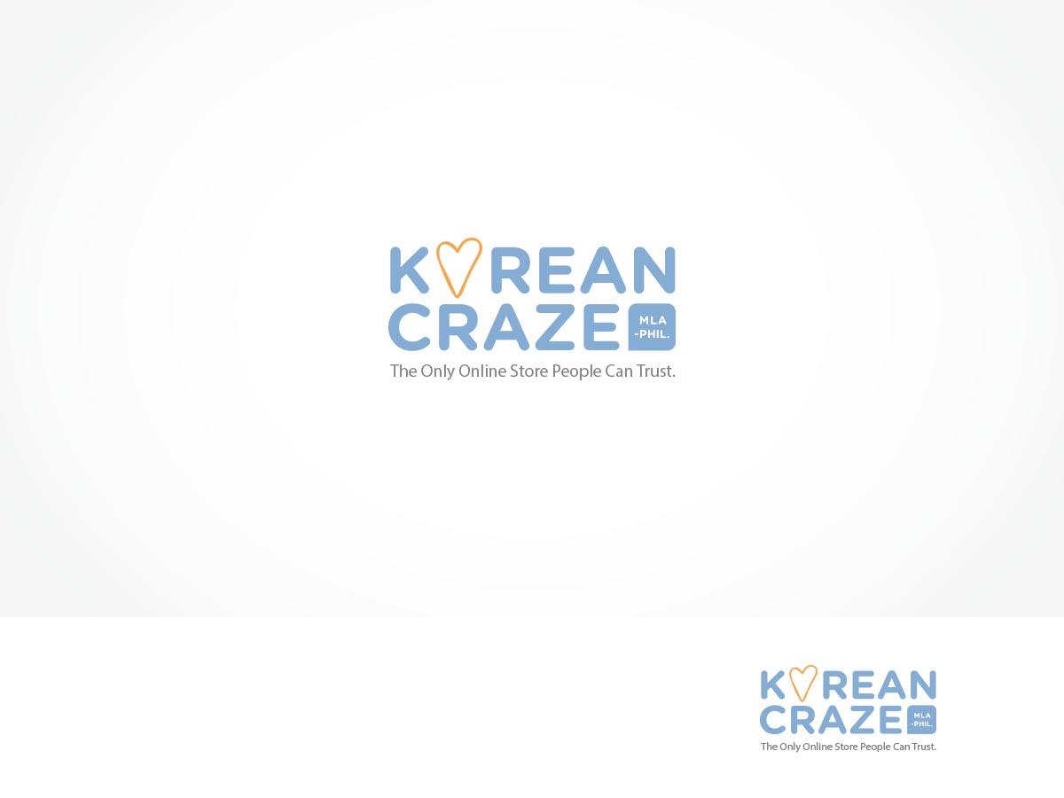 modern professional retail logo design for korean craze mla phil