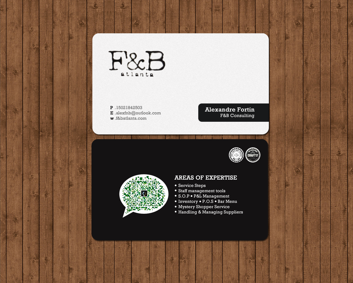 Professional, Modern Business Card Design for Alexandre Fortin by ...