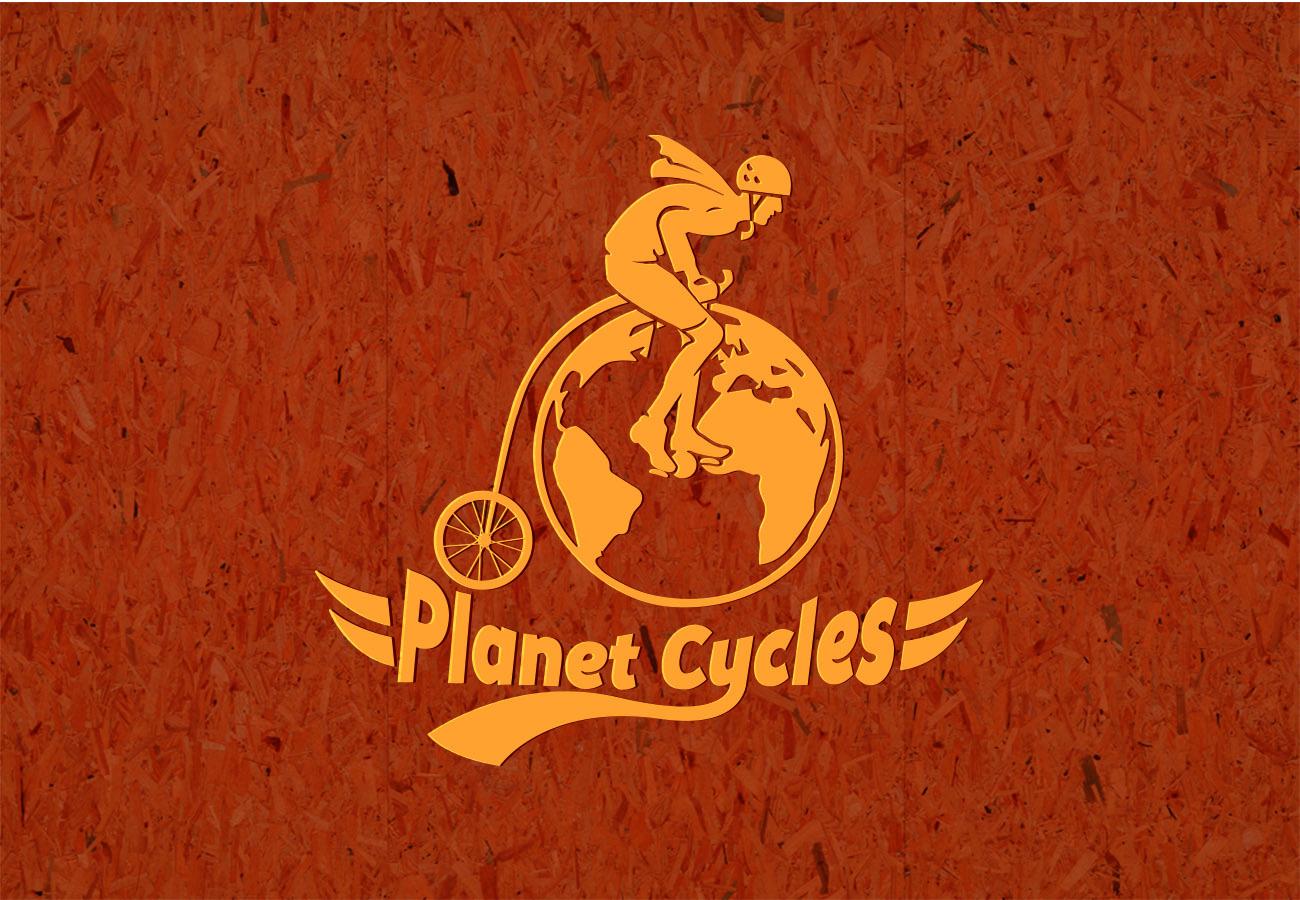 Planet Cycles Bike Shop logo by D@rts