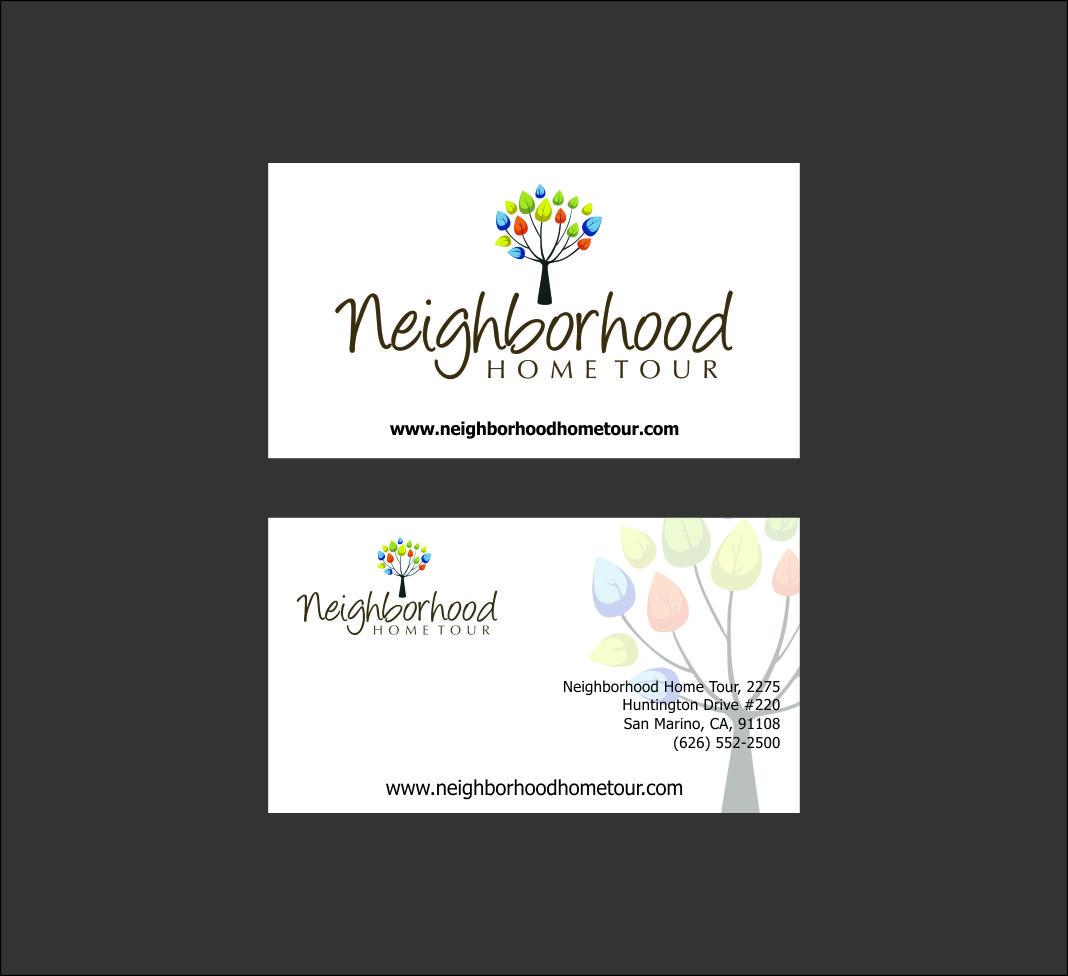 Feminine colorful business card design for neighborhood for Mib business card