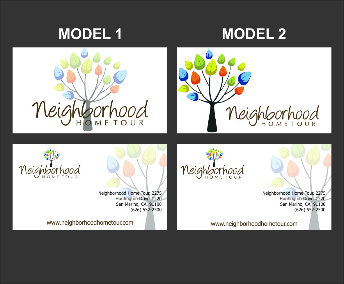Feminine, Colorful, Business Business Card Design for Neighborhood ...