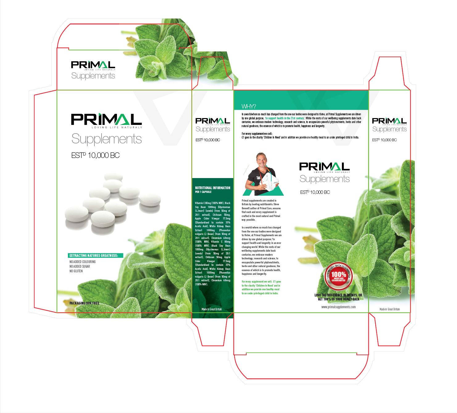 Professional, Elegant, Medical Packaging Design for PRIMAL