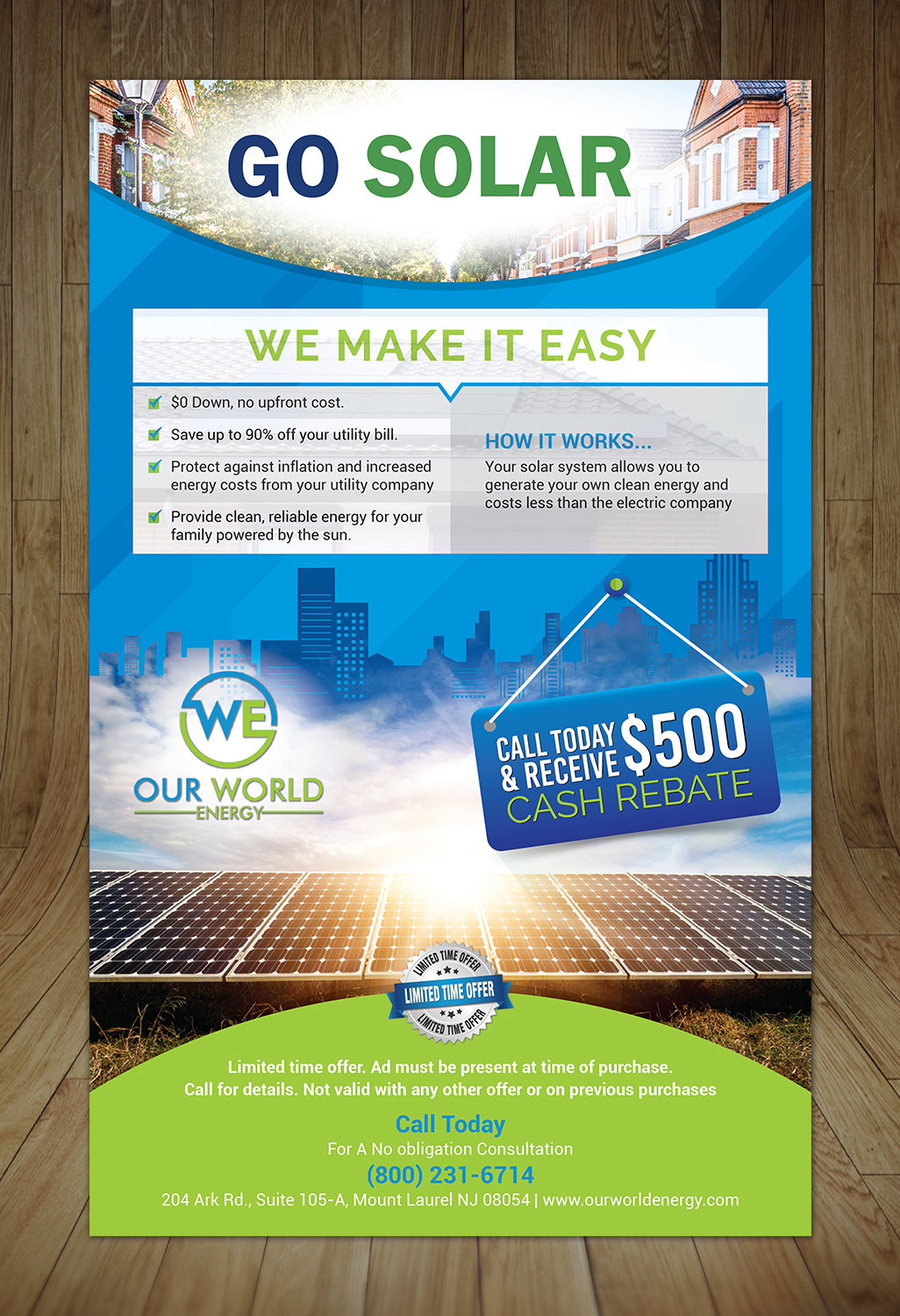 Bold Modern Solar Energy Flyer Design For A Company By