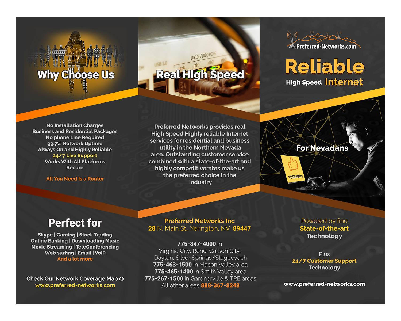Elegant, Playful, Internet Service Provider Brochure Design for ...